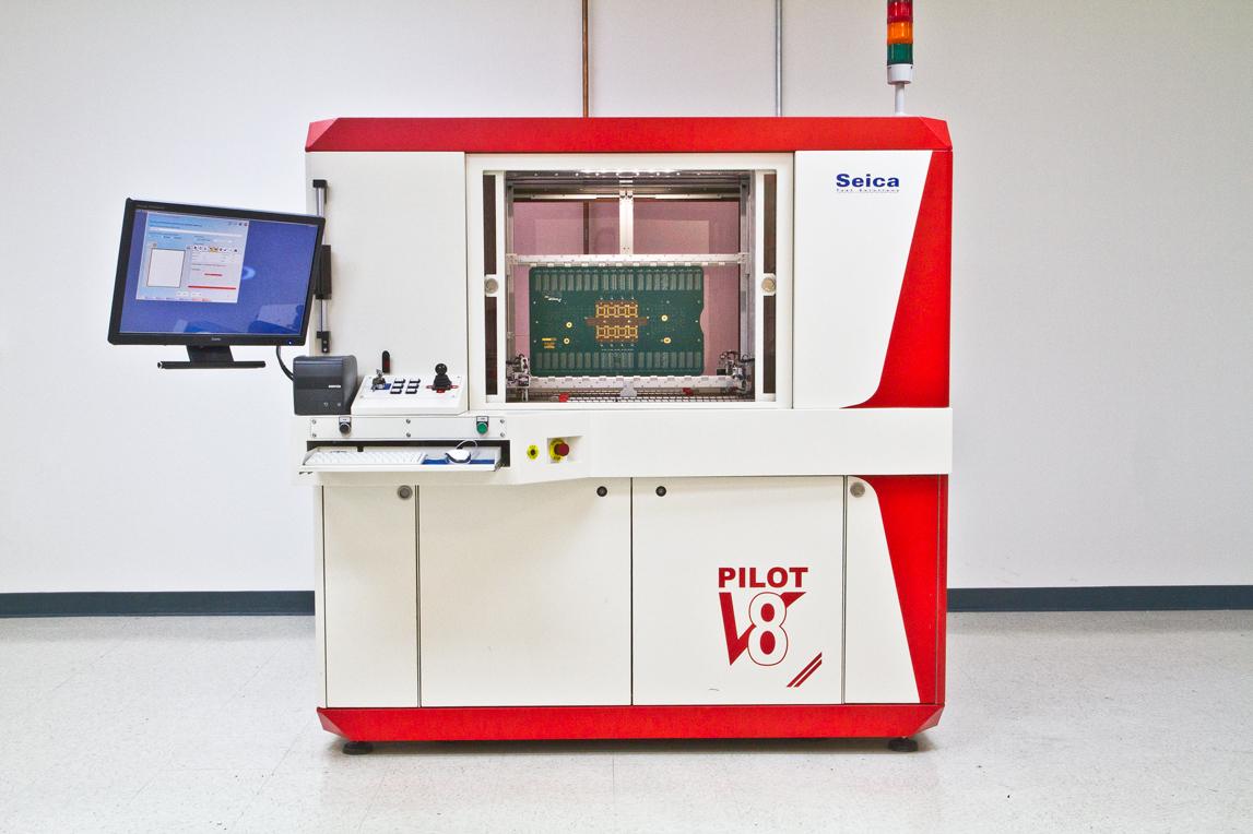 Seica Pilot V8 manufacturing machine.